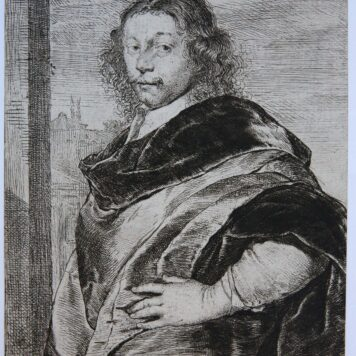 [Antique portrait print, etching] FRANCISCUS A MIERIS Pictor Leidensis/