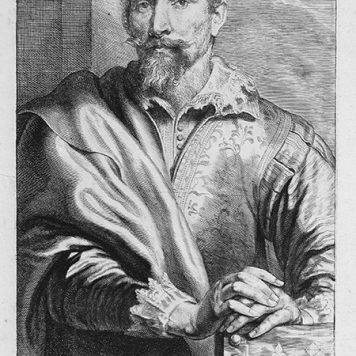 [Antique print, etching and engraving] FRANCISCUS SNYDERS. (Portrait Frans Snyders), published ca. 1650.