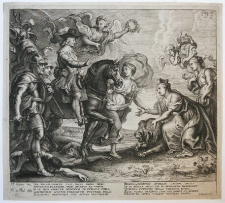 [Antique print, etching] The advent of the Prince [set: CASPERIUS GEVARTIUS], 1641.