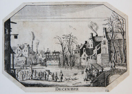 [Antique print, etching] December [Set of the twelve months]/December, 1600-1650.