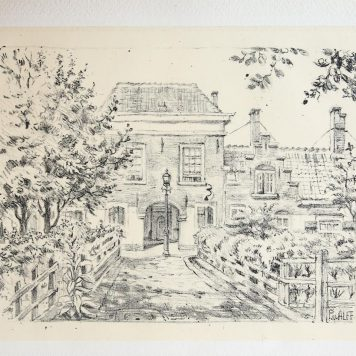 [Lithography] Paviljoensgracht (The Hague), published around 1915..