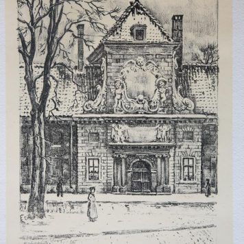[Lithography/litografie] Prinsegracht (The Hague), 1915?