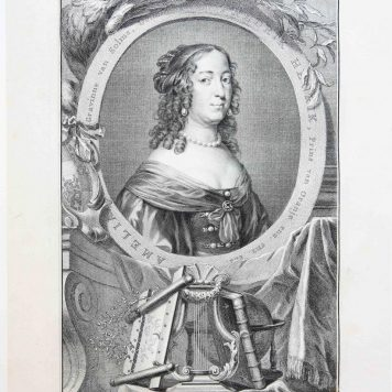 [Antique Portrait Print/portret, etching and engraving]: AMALIA Countess van Solms/Gravin Amalia van Solms, published 1753.