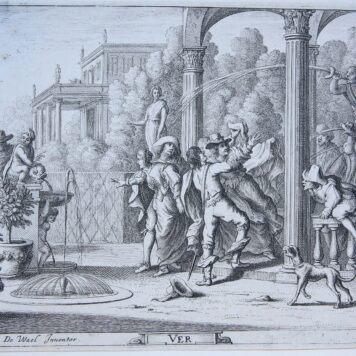 [Four antique etchings/etsen] The four seasons (complete set)/De vier seizoenen, published before 1695 .
