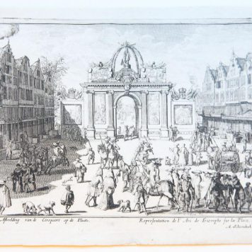 [Antique print, etching] The entrance of king William III's in The Hague, published 1691.