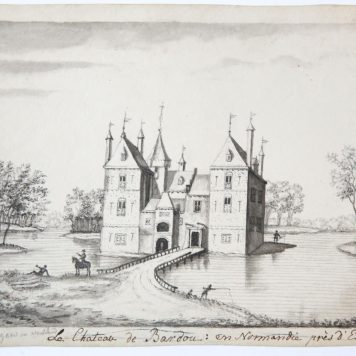 [Antique drawing] Huis te Spangen in Welstant 1550, after 1730.