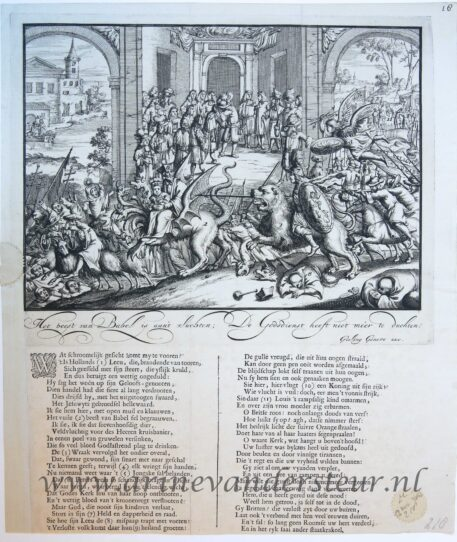 [Satirical print/spotprent] Het beest van Babel is aan 't vluchten, published 1689.
