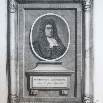 [Portrait print Professor in law Anthonius Mattheus II]
