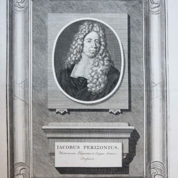 [Portrait print of Professor Jacobus Perizonius]