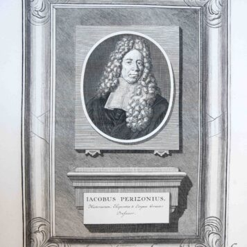 [Portrait print professor Greek, History and Eloquence Jacobus Perizonius]