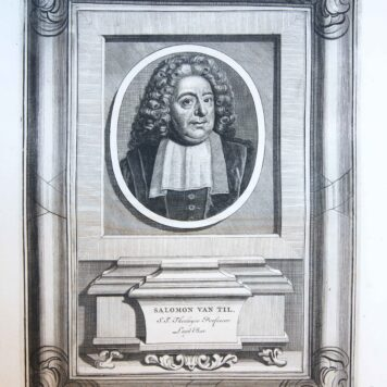 [Portrait print of theolgian Salomon van Til]