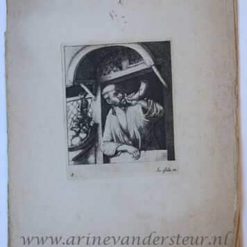 [Six etchings bound together] Caprice of six etchings/Zes etsen in prentboek gebonden, published 1650-1700.