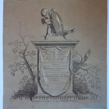 [Print drawing, etching/prenttekening, ets] Frontispiece to 'Prentwerk', published 1765.