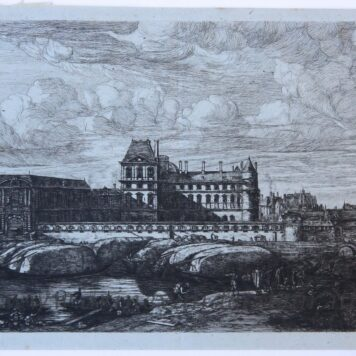 [Etching/ets] The old Louvre, published 1866.