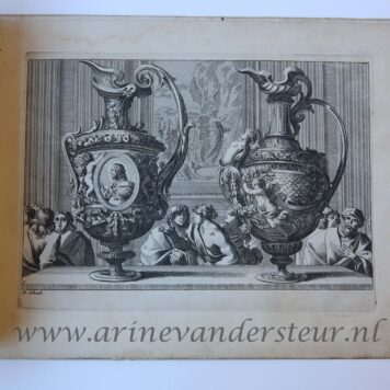 [Antique prints, etchings] [Vases ou Burettes a la Romaine] (5/6 plates), published ca 1661-1718.
