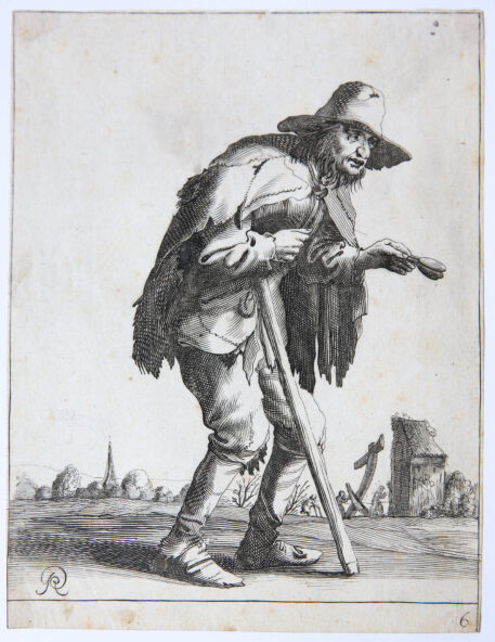 Print/Etching/ets: A beggar [6] (Set title: Beggars and Peasants, 26 plates).