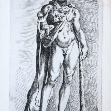 [Antique mythology print, etching] Hercules and Telephus ['Segmenta nobilium signorum et statuarum.', published 1638]