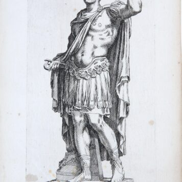[History mythology print, etching] Roman Navarch ['Segmenta nobilium signorum et statuarum.', published 1638]