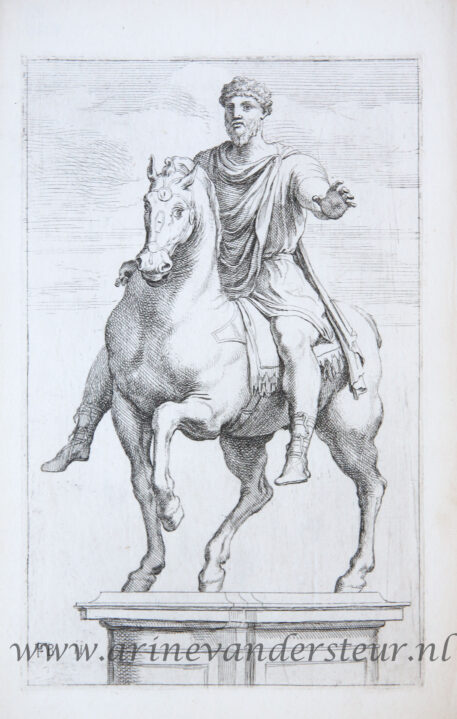 [Antique mythology print, etching] Marcus Aurelius, two plates ['Segmenta nobilium signorum et statuarum.', published 1638]
