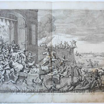 [Antique print, etching] 'De mislukte aanslag des hartogen van Anjou op Antwerpen in den jaare 1583'; French Fury, 1583, published 1679.