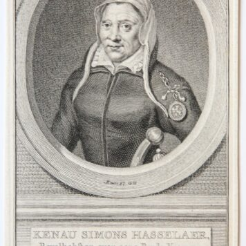 [Antique print, engraving] Kenau Simons Hasselaer (portrait of) [1760].