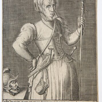 [Antique print, engraving] Kenau Simons Hasselaer (portrait of), ca 1600-1650.