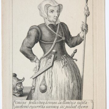 [Antique print, etching] Kenau Simons Hasselaer (portrait of), ca 1700-1750.