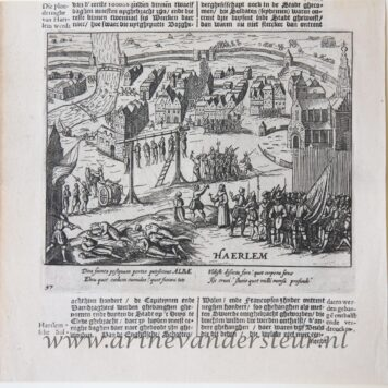 [Antique print, etching] Haerlem (Haarlem), 1621.