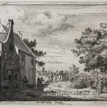 [Antique etching] De Harreberg Emaus/Herberg Emaus