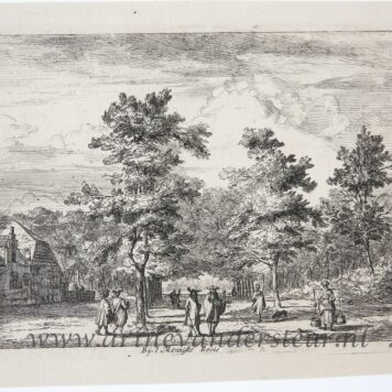 [Antique etching] Bij 't Menniste Bosie