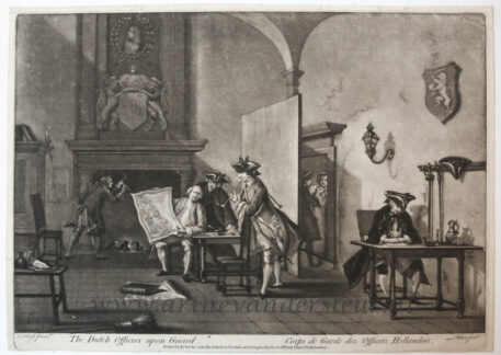 [Original mezzotint] The Dutch Officers upon Guard