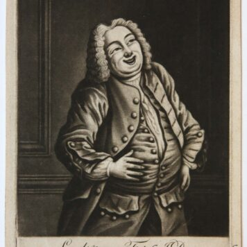 [Satirical print/spotprent] Laugh & grow Fat as I do, original mezzotint,
