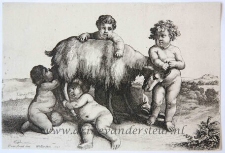 Four boys, a young satyr and a goat, 1647
