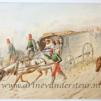 [Original drawing] Soldiers on horses (Campagne d'Italie)