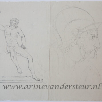 [Original drawing] Laocoon and a study of a head of a soldier