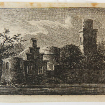 Original etching: Small view on houses