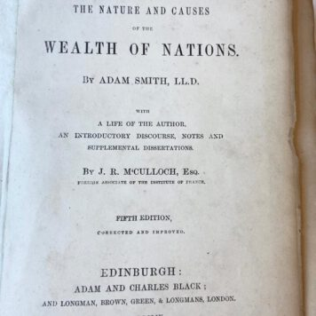 Adam Smith: An inquiry into the nature and causes of the wealth of nations,