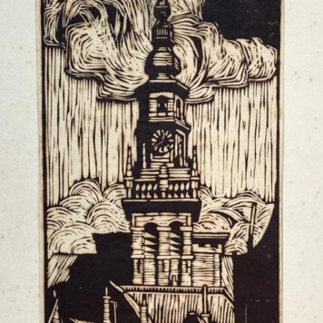 [Original woodcut] The new church of Haarlem/Nieuwe kerk in Haarlem.