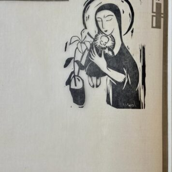 "[Original Woodcut from Wendingen] ""Madonna""."
