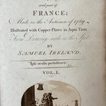 [Travel book] A picturesque tour through Holland, Brabant and part of France; made in the autumn of 1789, 2 delen, Londen: T. & I. Egerton, 1790