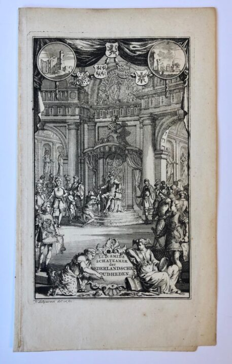 [Frontispiece, etching and engraving] The leader giving audition to knights, 1 p., published 1711.