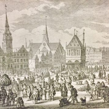 "[Antique print, etching] The last ""Koppertjesmaandag"" in Amsterdam in 1604, 1769."
