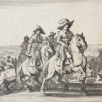 "Original etching: From the ""Spanish Garrison leaving Maastricht,"