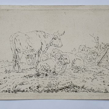 Print. P. Roosing after J. Kobell II. Cow and sheep a meadow.
