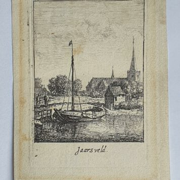Print. J. v. Almeloveen after H. Saftleven. The village of Jaarsveld.