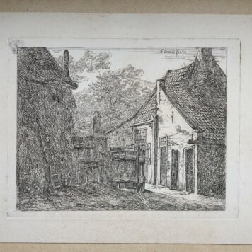 Print. G.E. de Micault. The farm at Pernis.