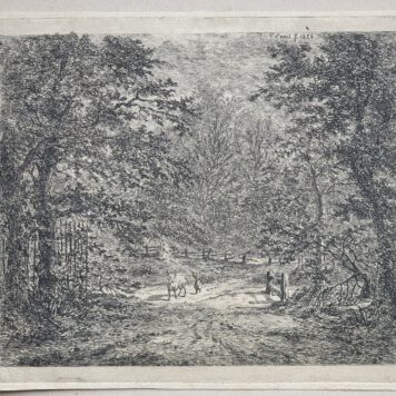 Print. G.E. de Micault. The cow in the Bentheim forest. (state II)