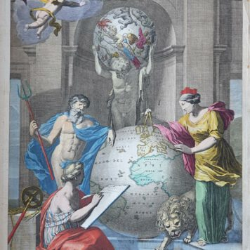 Print. J. W. Munnickhuysen, after Z. Webber, Frontespiece of an Atlas.