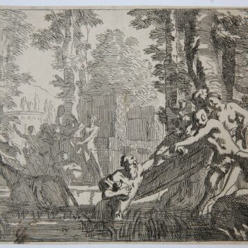 [Original etching/ets] J. Glauber, after G. de Lairesse, Silenus is pulled out of the water.