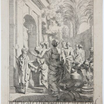 [Original etching, ets] J. Glauber, after G. de Lairesse, Sacrifice to Venus.